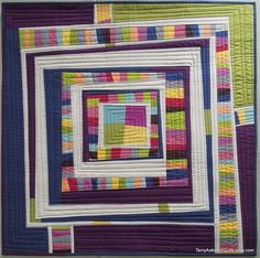Improv Modern Quilt Wall Hanging..