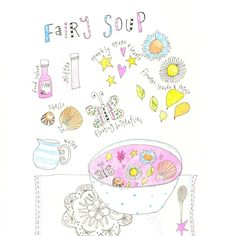 Kids Wall Art, Kids Art,  Fairy Soup - Fairy Print - Limited Edition 8x10 Print by Jennie Deane by hiccupart on Etsy https://www.etsy.com/au/listing/240555944/kids-wall-art-kids-art-fairy-soup-fairy