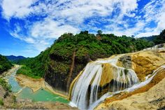 Maria, Ilocos Sur Pinsal Falls is a Philippine waterfall that is located in the town of S. Philippines Destinations, President Of The Philippines, Ilocos, Somewhere In Time, Mindanao, Archipelago, Wonderful Places, Places To See, Scenery