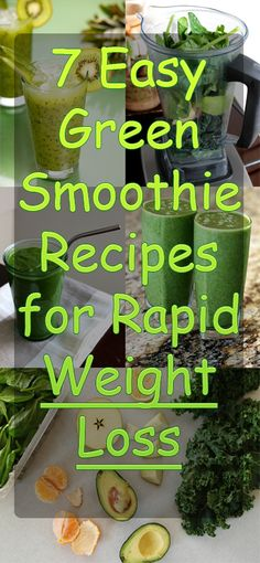 PINNED 91,800 times: 7 Easy Green Smoothie Recipes for Rapid Weight Loss