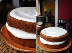 Always Order Dessert: Carrot Pulp Cake with Maple-Orange Cream Cheese Frosting