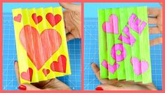 Agamograph Valentine's Day Craft for Kids Easy Valentine Crafts, Valentines For Kids, Holiday Crafts, Craft Stick Crafts, Diy Crafts, Craft Ideas, Emoji Craft, Valentine's Day Crafts For Kids, Origami