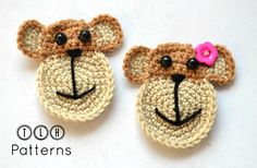 Monkey face applique pattern by TLH Patterns