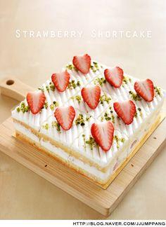 딸기 쇼트 케익 만들기(생크림케익)