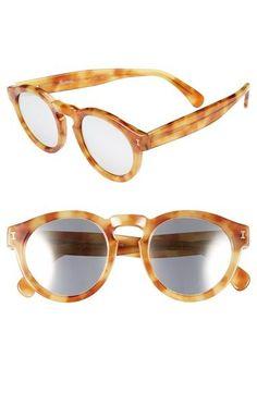 Illesteva 'Leonard' 48mm Sunglasses Amber/ Silver One Size by: Illesteva @Nordstrom