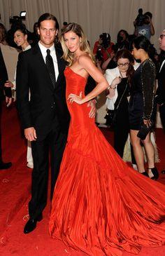 Tom Brady & Gisele at the Met