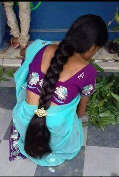 Long Silky Hair, Long Black Hair, Super Long Hair, Indian Hairstyles, Pretty Hairstyles, Braided Hairstyles, Beautiful Braids, Beautiful Long Hair, Indian Long Hair Braid