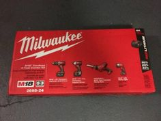 Tools New York City, Milwaukee 4 piece tool combo kit comes with drill impact saw flash light and carry bag battery's charger.
