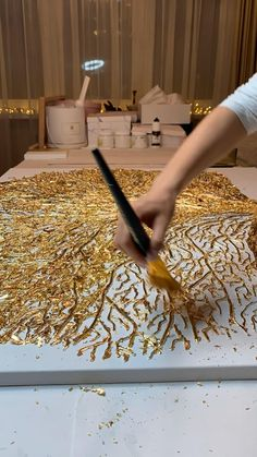 Abstract Painting Techniques, Art Techniques, Texture Art, Texture Painting, Diy Painting, Large Painting, Gold Leaf Art, Diy Resin Art, Acrylic Art