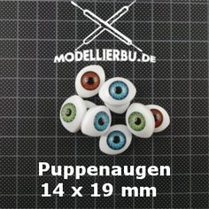 Puppenaugen Oval 14x19 mm (Acryl)