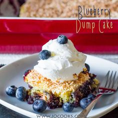 Blueberry Dump Cake – dump all the ingredients in a baking dish and bake. But only 4 ingredients required to make this easy and delicious dump cake.