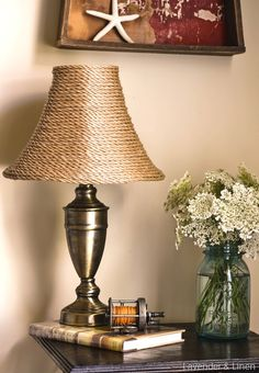 For that great lamp with boring shade i just picked up furniture diy lampshade aloadofball Images