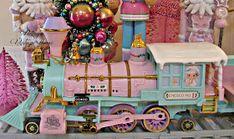 Penny's Vintage Home: Precious Moments Christmas Train Christmas Train, Pink Christmas, Christmas Home, Christmas Ornaments, Christmas Ideas, Precious Moments, Christmas Decorations For The Home, Holiday Decor, Cottage Christmas