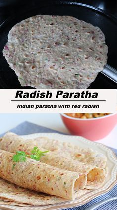 Red Radish Paratha, a delicious and healthy paratha made from wheat flour & grated red/pink radish. #redradishparatha #pinkradishparatha #paratha Roti Paratha Recipe, Paratha Recipes, Sweets Recipes, Indian Food Recipes, Healthy Recipes, Ethnic Recipes, Indian Flat Bread, Fusion Food, Breakfast Menu