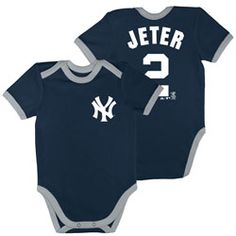 9851f809e Derek Jeter New York Yankees MLB Majestic Newborn Infant Name and Number  Creeper Yankees Outfit