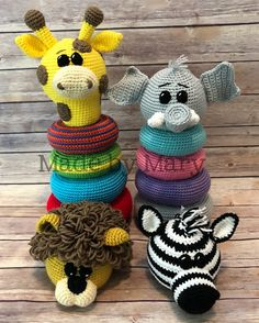 Ravelry: Ring Stacker Toy - Zoo Animals 1 pattern by Mary Smith