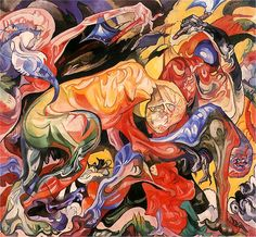 Giclee Print: Poland, Lodz, the Fight, : Google Art Project, Cobra Art, Fantastic Art, Culture, Art Google, Love Art, Dark Art, In This World, Poland