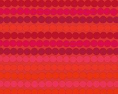 "Marimekko ""Räsymatto"" Red/Purple Cotton Fabric"
