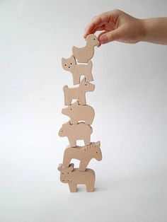 Items similar to Eco wooden toy set - Baby farm animal set - Baby shower gifts - Waldorf toys for toddlers - Wood animal toy - Wooden playset on Etsy Animal Set, Wood Animal, Animal Puzzle, Wood Peg Dolls, Wood Toys, Wooden Decor, Wooden Crafts, Natural Toys, Natural Baby