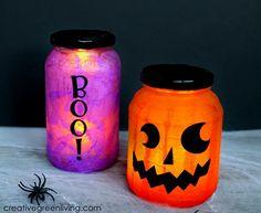 DIY Halloween : DIY Upcycled Halloween Luminaries