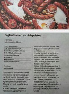 Englantilainen aamiaispaistos herkkusienet papuja tomaattikastikkeessa tomaatti kananmuna vappu brunssi