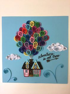 Quilled Paper Art Pixar's UP House and by MyMindfulMakings on Etsy