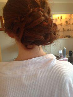 Bridesmaid hair with plaits