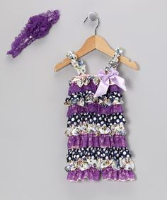 Take a look at this Zuzu's Petals Purple Romper & Headband - Infant & Toddler on zulily today!