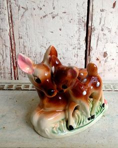 Vintage Deer penny bank Mother deer and by LititzCarriageHouse