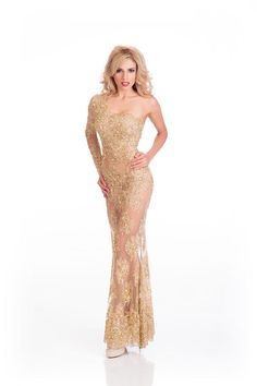 Gabriela Ordonez Miss Honduras in evening dress for Miss Universe.