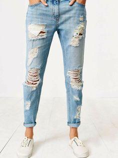 88d8f72116310 Comment customiser un jean – 60 photos d idées chic. pantalon déchiré ...