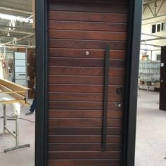 Main Door Steel Interior Design Ideas For 2019 Main Entrance Door Design, Door Gate Design, Door Design Interior, Front Door Design, Entrance Doors, Garage Design, Front Doors, Modern Exterior Doors, Modern Front Door