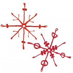 Koziol Deko-Element Flakes 2 Pcs. transparent red transparent red