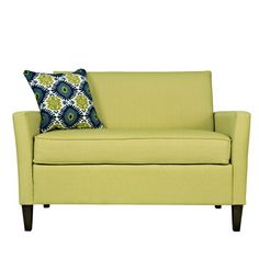 angelo:HOME Sutton Loveseat $421 Modern love seat. comes with contemporary ikat pillow. cool lime color. comes in many colors and patterns.