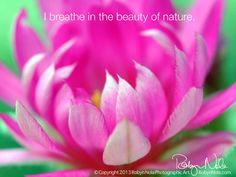 I breathe in the beauty of nature ♥
