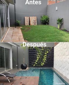 30 Amazing Home Decorating : Portugal : Wow via Amazing before & after transformation by Small Backyard Pools, Backyard Patio Designs, Small Pools, Swimming Pools Backyard, Swimming Pool Designs, Backyard Landscaping, Kleiner Pool Design, Small Pool Design, Mini Pool