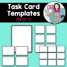 You Will Receive Task Card Template Plus A Full Size Frame For - Task card template