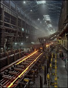 """My novel """"Hometown News"""" reflects places like this. Tube mill - V Star Steel, Youngstown Ohio"""