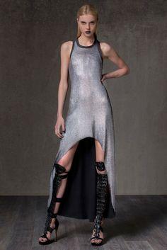 ALEXIS Lorri Metallic Hi-Lo Racerback Dress