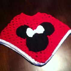 Minnie Mouse Granny square poncho!