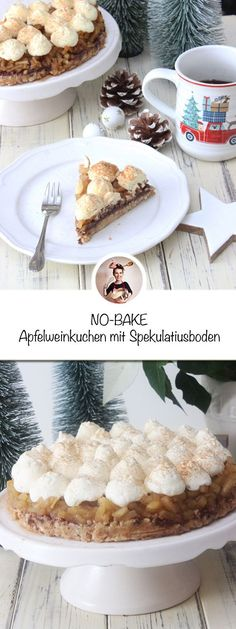 Apfelweinkuchen mit Spekulatiusboden ohne Backen Apple cider cake with a speculum base without baking - We like to have small cakes at our coffee hour, like this apple wine cake. Overnight French Toast, French Toast Bake, Chocolates, Keto Recipes, Cake Recipes, Apple Wine, Mousse, Cinnamon Cookies, Little's Coffee