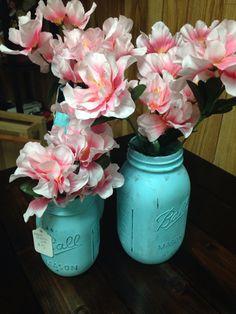 Painted & sealed mason jars Moda Candles & More