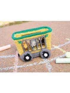 Animal Train Car Crochet Pattern | InterweaveStore.com