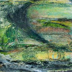 Across to the Downs by Jo Watters-Pawlowski. Mixed media on paper
