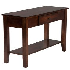 Kona Accent Tables Sofa Table In Brushed Raisin