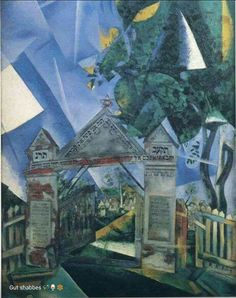 The Cemetery Gate by Marc Chagall Handmade oil painting reproduction on canvas for sale,We can offer Framed art,Wall Art,Gallery Wrap and Stretched Canvas,Choose from multiple sizes and frames at discount price. Marc Chagall, Artist Chagall, Chagall Paintings, Henri Matisse, Henri De Toulouse Lautrec, Centre Pompidou, Georges Braque, Jewish Art, Jewish Food