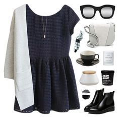 """BeautifulHalo 19"" by ruthaudreyk ❤ liked on Polyvore featuring WithChic, CB2, Vince, Illesteva, Aesop, Byredo and Zoya"