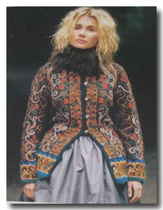 This is the Fitted Jacket with Embroidery from Norsk Strikkedesign