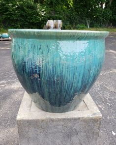 The coastal version of our outdoor glazed pottery. Available in 3 sizes - Want in? Tap the image! Cedar Planters, Tall Planters, Glazed Pottery, Glazes For Pottery, Landscape Architecture, Landscape Design, Holidays In New York, Fiberglass Planters, Long Island City
