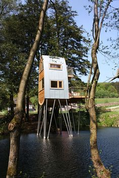 Baumraum's Tree House Makes Stilts Look Second Nature